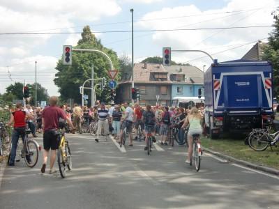 Die Anschlussstelle Bochum-Hamme ist wegen Überfüllung der A40 geschlossen