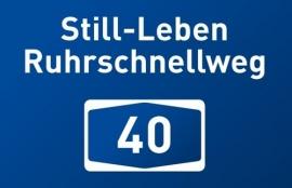 Autobahnschild A40 Still-Leben Ruhrschnellweg