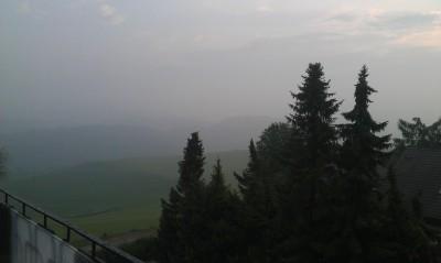 (Fehlender) Ausblick vom Balkon